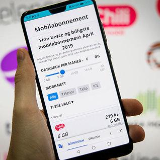 Betaler du mye for mobilen? Sjekk vår sammenligning