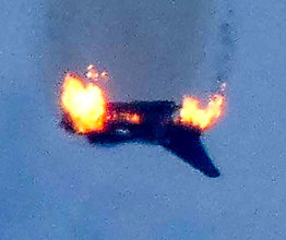 Her styrter jagerflyet