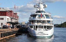 Kongelig super-yacht i Oslo