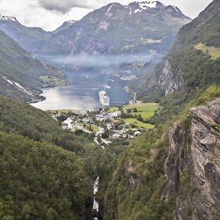 Fire av ti er norske:Verdens mest populære cruise-reisemål