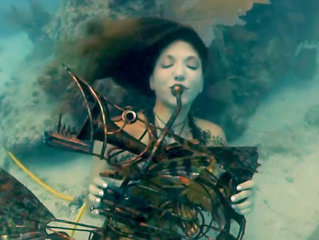 Arrangerte «konsert»under vann