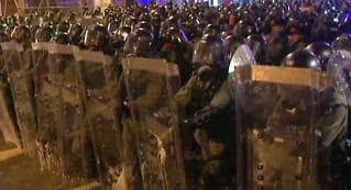 Hongkong:Tåregass og gummikulermot demonstranter
