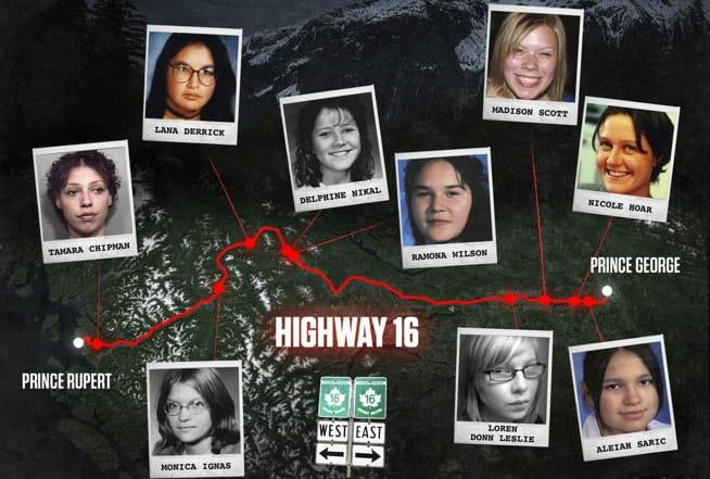 De forsvant pådødens highway