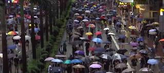 Demonstrerte i Hongkong:Vil vise at de er fredelige