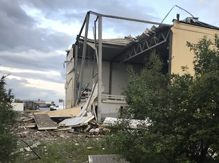 Eksploderte da lynet slo ned: Traff bombe fra krigen