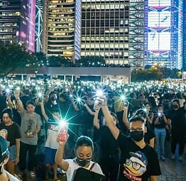 Hongkong:Voldsomme protester