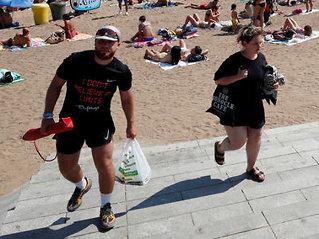 Barcelona: Turiststrand evakuert
