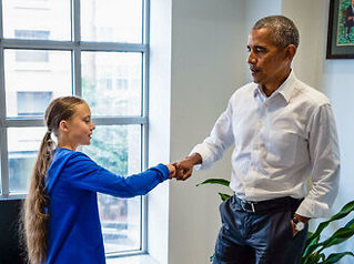 Obama hyller Greta Thunberg