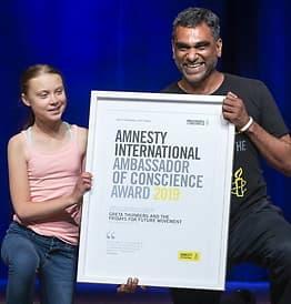 Amnesty-pristil Thunberg