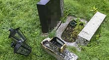 Hærverk på gravplass på Stord